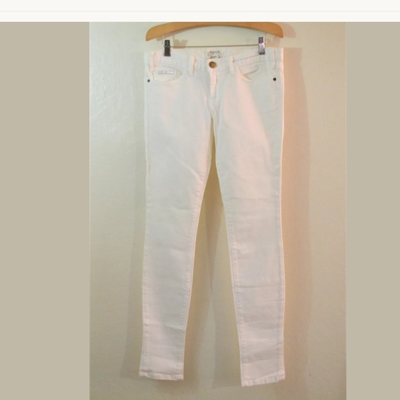 Current/Elliott Denim - Current/Elliott The Skinny White Jeans Size 28